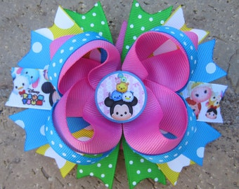Tsum Tsum inspired Custom Boutique Hair Bow for Disney Vacation or Birthday Party