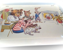 Vintage T.V. Lap Bed Tray Child's Cartoon characters  A Clown Foldable Tray