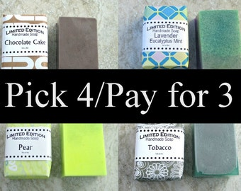 Orphan soap deal! Pick 4, only pay for 3!