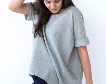 Sweat Shirt Slouchy Tunic Organic Cotton