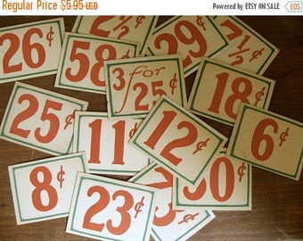 BIG SALE 10 Vintage Antique General Store Price Cardboard Tags Lot