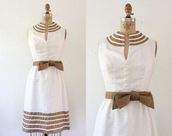 1960s dress / vintage 60s dress / Linen & Bow dress