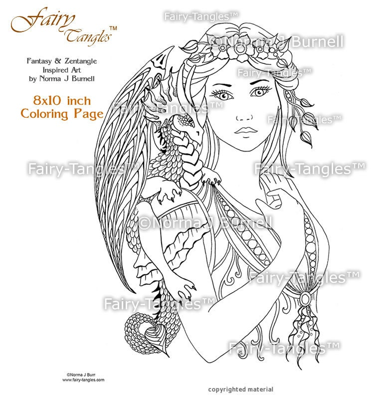 Fairy Dragon Queen Coloring Sheets Printable Pages