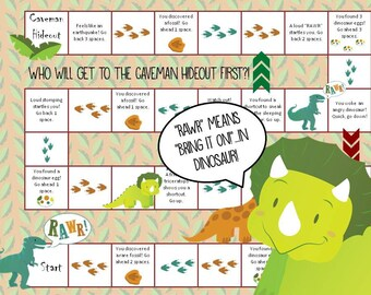 Printable Dinosaur Board Game