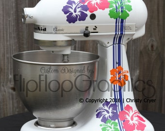 Graphic for Kitchen Mixer - Hibiscus Flowers