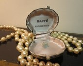 Vintage Metal Oyster Shell Jewelry Display Dantes Pearls
