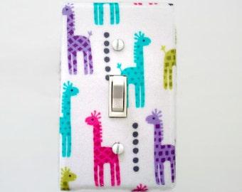 Giraffe Light Switch Cover - Giraffes Switch Plate - Jungle Nursery Decor - Giraffe Childrens Bedroom - Girls Nursery Decor - Baby Gift