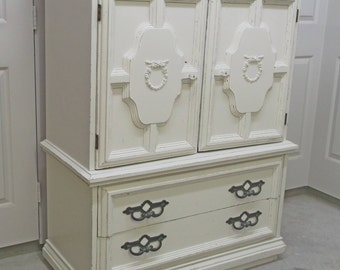Chest of Drawers, White Classic Cottage Style - Chic DR401 Shabby Farmhouse Chic, Chest, Nursery Furniture