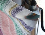 """Handwoven Scarf """"Winter Frost"""" Woven Scarf, Wrap"""