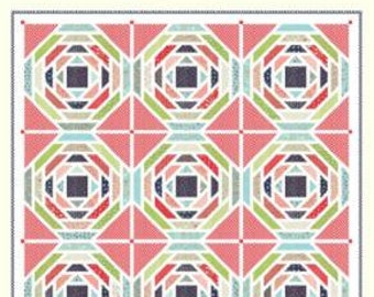SPRING SALE - In Stock - Quilt Kit - Playful - Vintage Picnic fabric by Bonnie and Camille