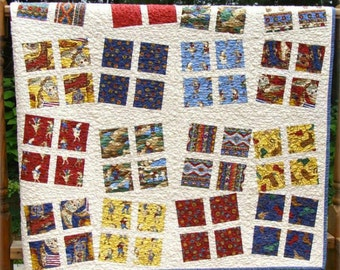 SUMMER SALE - Custom Quilt Kit - Choose any Layer Cake - Dancing Patchwork by Carlene Westberg