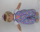 Pink and Lavender Romper and Blouse, Fits 15 Inch American Girl Bitty Dolls
