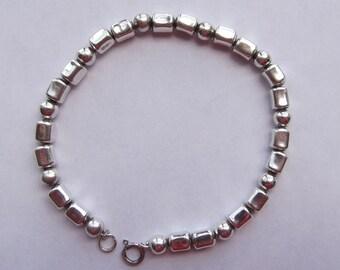 Sterling Silver Slim Bead Bracelet
