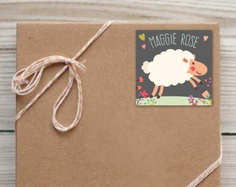 Set of 25 Personalized Sheep Enclosure Cards Contact Cards Calling Cards Labels or Gift Tags