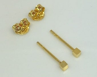 Citrus zest stud earrings, gold stud earrings, men's stud earrings, cartilage earring, tiny gold studs, tragus stud, helix earring, 465Y