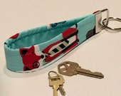 Key chain featuring a hipster fox,  key fob, Keychain, Lanyard, Keyring