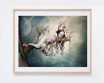 Sleeping Beauty - Fairytale Art Print - Wall Art