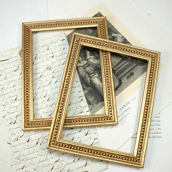 6x8in old cottage style gold boule photo frame from for Bungalow style picture frames