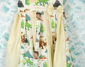 custom boutique twirl dress made with disney pixar the good dinosaur fabric  size 2-6