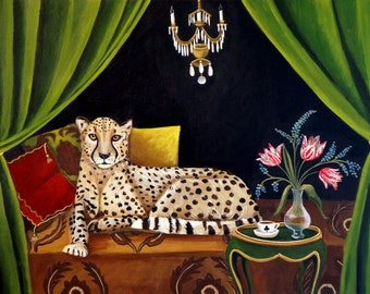 Out Of Africa - Fine art print of an original painting by catherine nolin