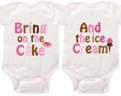Twin Birthday Bodysuits First Birthday Rompers Boy Girl Twin Birthday Shirts Personalized Birthday Shirts