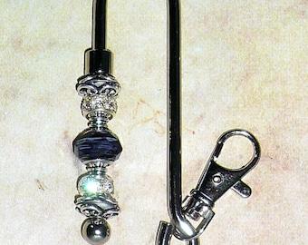 Purple Key Finder, Beaded Key Finder, Purse Key Chain