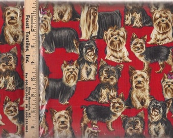 Yorkie Dog Fabric by Timeless Treasures (by the yard)