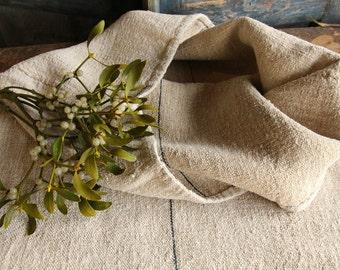 C 736+ 749  antique rustic grainsack french INDIGO holiday feeling pillow cushion heavy 23.62 widewide