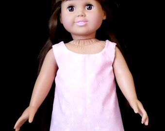 18 in Doll Jumper - Pink with White Stars