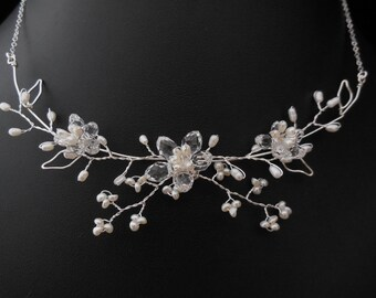Silver Necklace Sakura Necklace - Sterling Silver