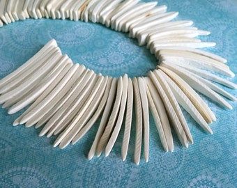 Natural Wood Stick Beads - coconut indian stick 1.5 to 2 inch - 25pcs  (PC202FF)