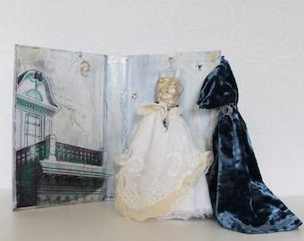 art assemblage, book art, book diorama, altered book, mixed media, miniature. #3