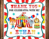 Carnival Favor Tags,Circus Printable Favor Tags, Carnival Birthday Party, DIGITAL Circus Gift Tags, PDF