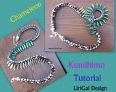 Tutorial Chameleon Kumihimo Daggers Necklace PDF