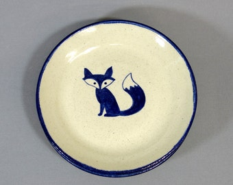 Fox Plate - 6 inch round ceramic plate with original illustration