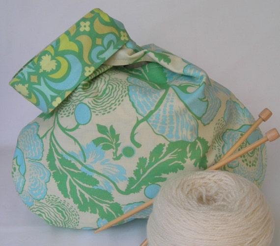 Knot Bag Knitting Pattern : Japanese Knot Bag knitting crochet WIP yarn bag sock scarf