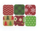 SALE Christmas Mini Note Cards (set of 6) CMN12 / Ready To Ship