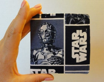 Blue Star Wars Wallet, Darth Vader and C-3PO