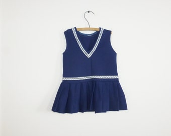 Vintage Navy Toddler Dress