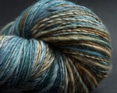 Into the Woods, HandSpun and Hand dyed Yarn, Wool, worsted, Single, 200 yards