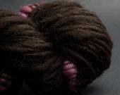 Un Balcon en Forêt, Shetland, yak, silk, Merino, CoilSpun BeeHive Art Yarn, HandSpun HandDyed Yarn, 30 yards