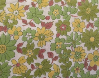Vintage floral cotton 1 3/8 yard x 35 inches more available