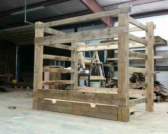 YOUR Made to Order Barn Wood Bunk Bed that Separates into 2 beds  and FREE SHIPPING - BWBB975F
