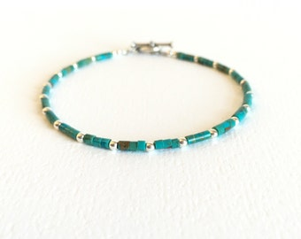 Bracelet - Chinese Turquoise - Sterling Silver