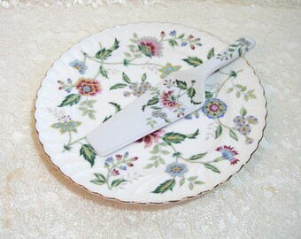 China Cake Plate with Matching Server