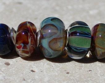 BORO ORPHAN Set #2029 Artisan boro beads by JRG
