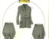 Men Jodhpurs Breeches Banded Jacket Edwardian Making History Sewing Pattern Butterick 6340 Size  S M L Xl Xxl 34 36 38 40 42 44 46 48 50 52