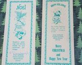 Vintage Christmas Ashland Times Gazette Ohio Motor Route Drivers Gift Bookmarks