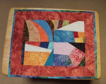 Cat Tree Quilt Modern Crazy Patch Handmade Quiltsy