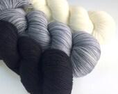 VANILLA Hand Dyed 80/20 Merino Sock Yarn - full skeins